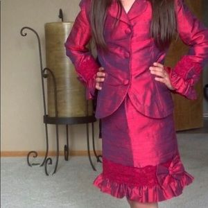 Other - Girls Red Skirt Suit